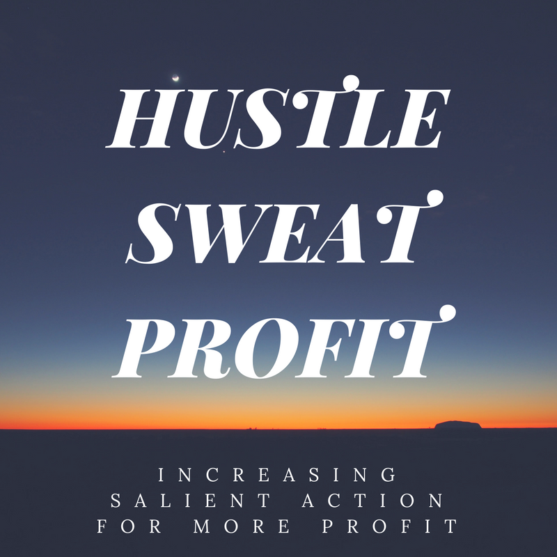 Hustle Sweat Profit – Increasing Salient Action For More Profit
