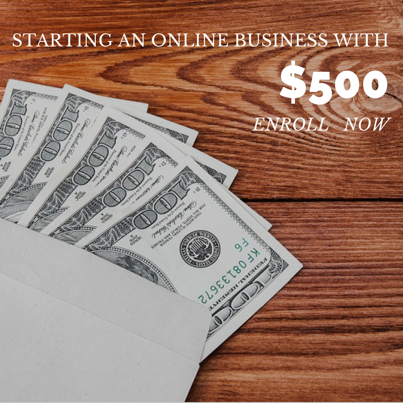 STARTING AN ONLINE BUSINESS WITH $500 HUSTLERS KUNG FU ONLINE COURSE ENROLL NOW