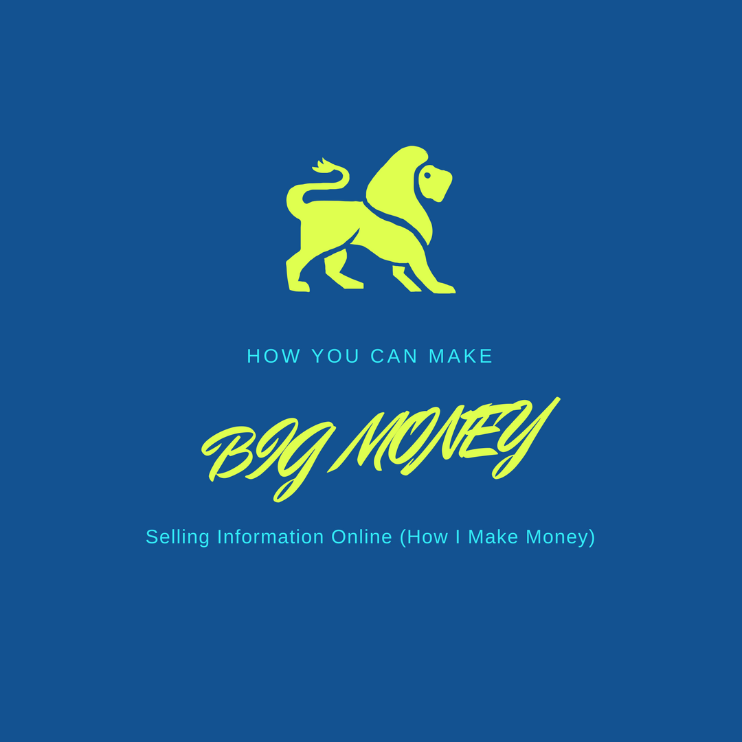 How You Can Make BIG MONEY Selling Information Online (How I Make Money)