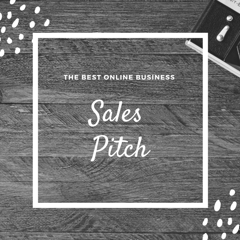 The Best Online Business Sales Pitch