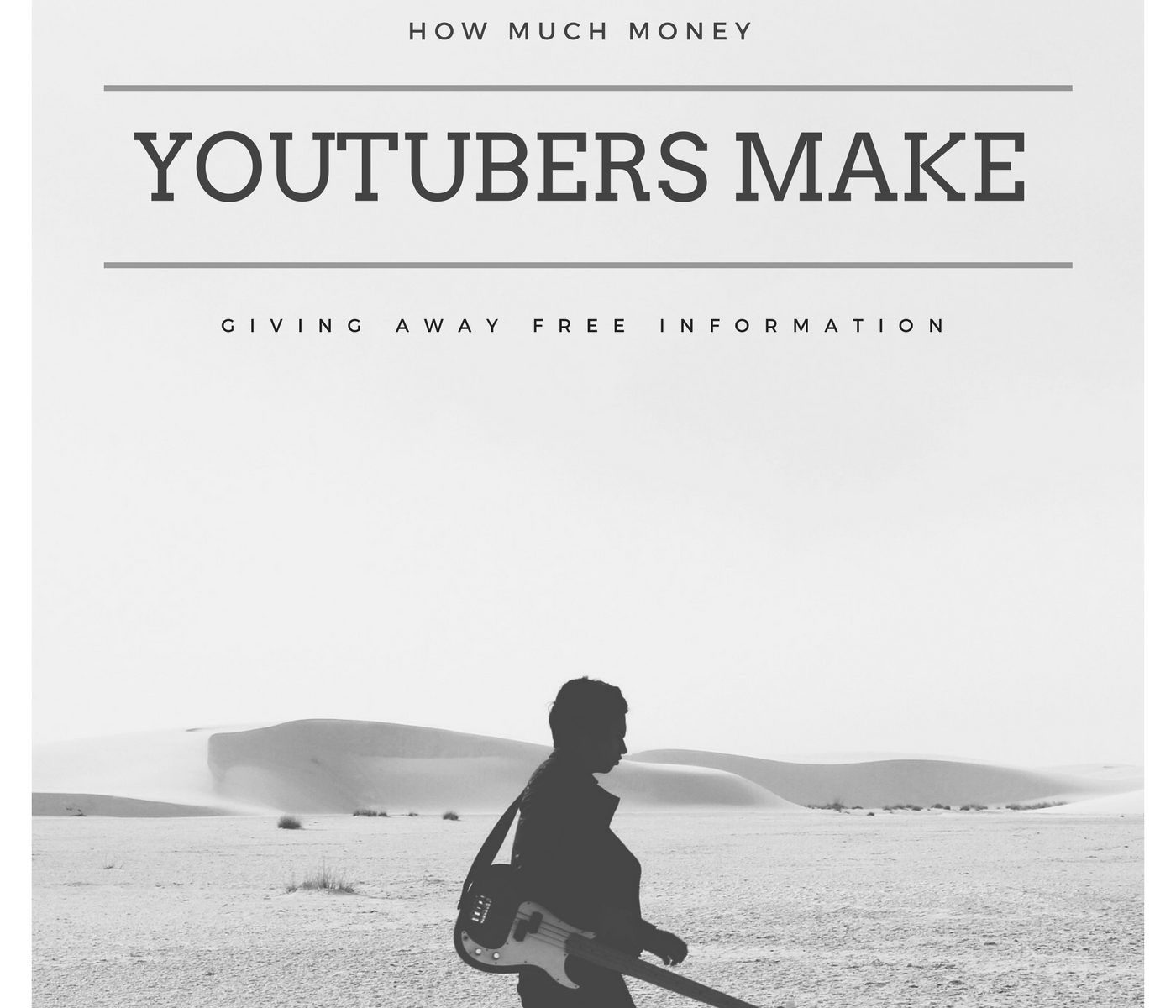 How Much Money YouTubers Make Giving Away Free Information