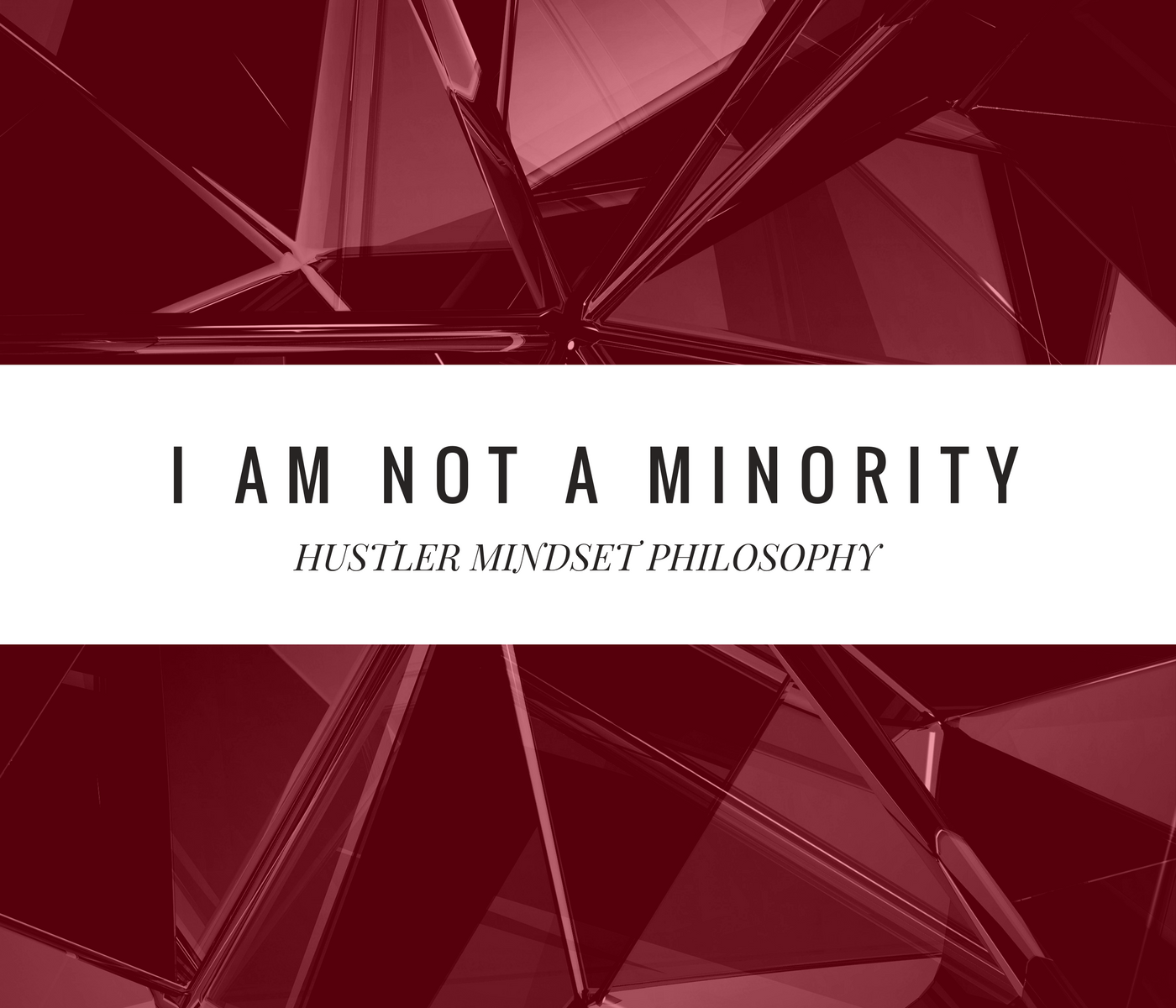 I Am Not a Minority – Hustler Mindset Philosophy