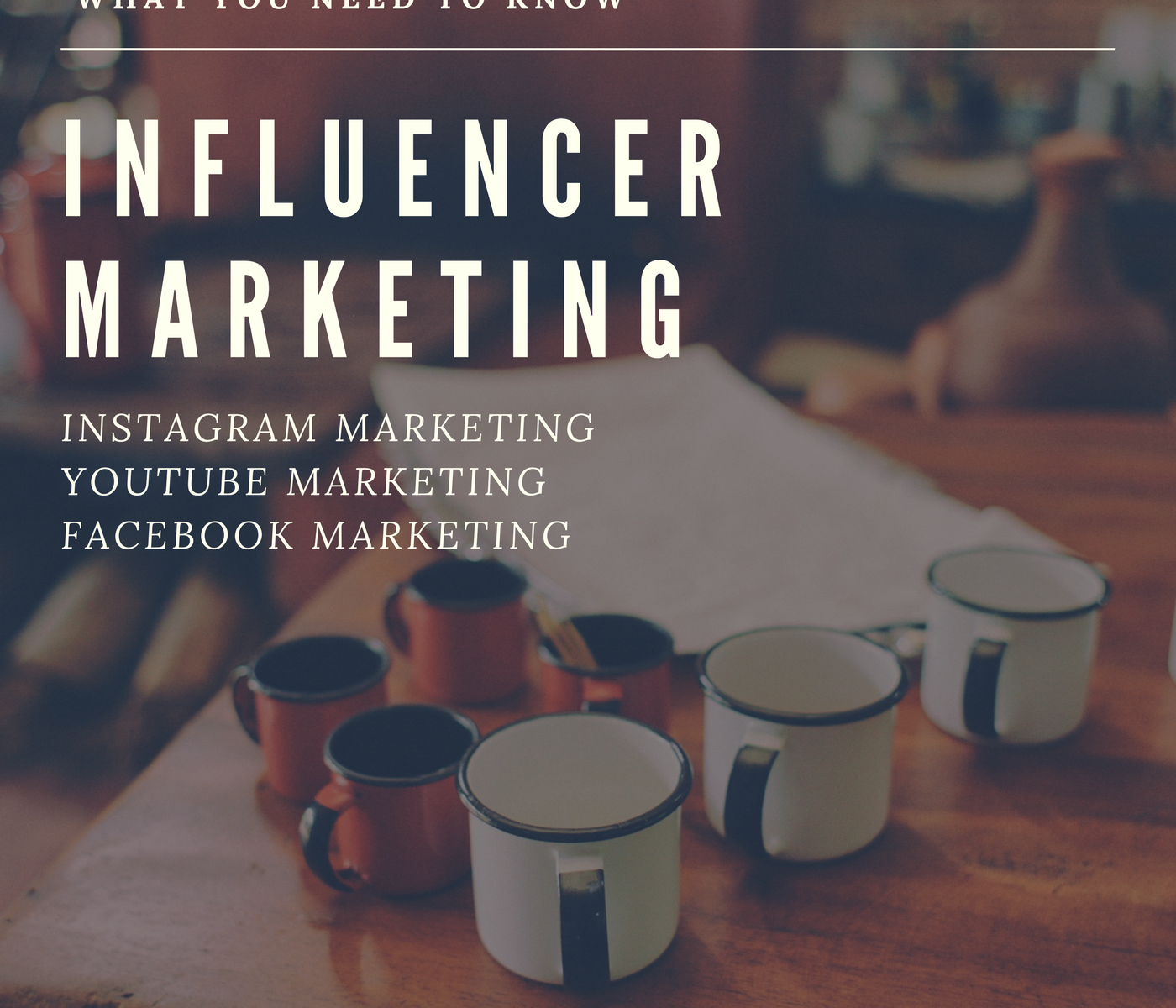 Instagram Marketing YouTube Marketing Facebook Marketing – What You Need to Know – Influencer Marketing